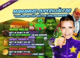 MamaMias superhjältar den 7 maj