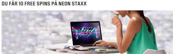 10 spins på Neon Staxx