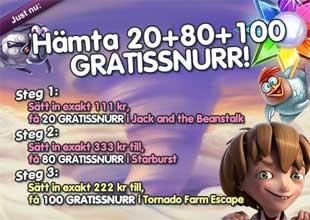 200 gratissnurr hos MamaMia den 26 juli