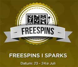 Freespins i Sparks