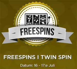 Freespins på Twin Spin