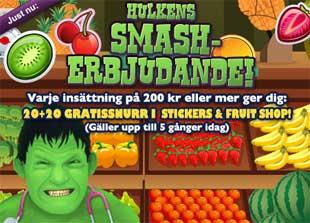 Hulkens Smasherbjudande 12 juli