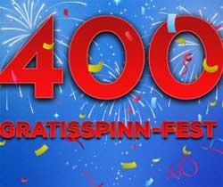 400 gratisspinn-fest