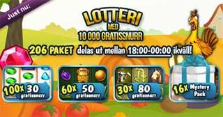 Lotteri med 10 000 gratissnurr
