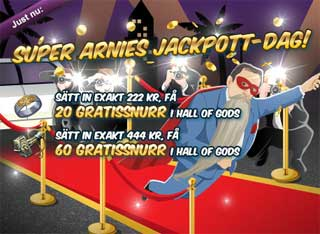 Super Arnies jackpott-dag 5 september