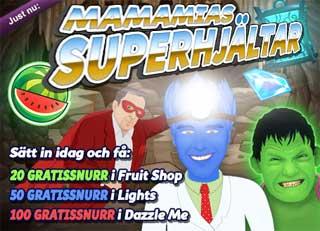 Superhjätar hos MamaMia