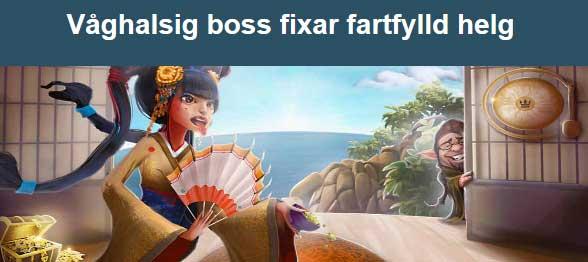 Våghalsig boss hos CasinoHeroes