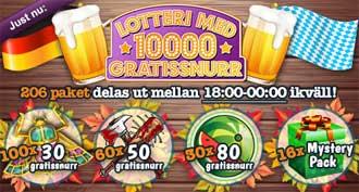 10 000 gratissnurr lotteri