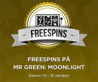Freespins på Mr Green Moonlight