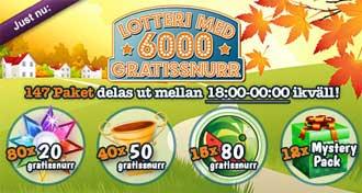 Lotteri med 6000 gratissnurr