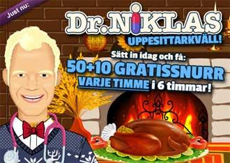 Dr Niklas uppesittarkväll den 26 november