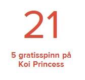 5 spins på Koi Princess