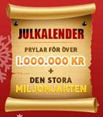 Julkalender hos SverigeCasino