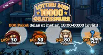 Gratissnurr lotteri 22 januari