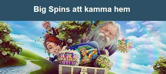 Big Spins att kamma hem