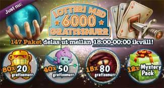 Lotteri 6000 gratissnurr