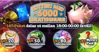 Lotteri hos MamaMia den 19 feb