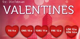 Valentines hos CasinoLuck