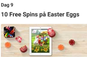 10 freespins på Easter Eggs