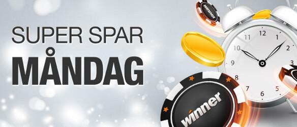 winner casino måndag