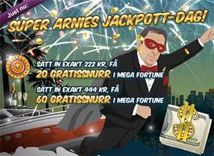 Super Arnies jackpott dag 13 mars