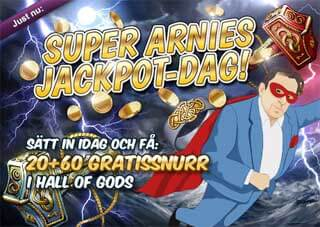 Super Arnies jackpott dag 10 april