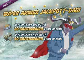 Super Arnies Jackpott-dag den 3 april
