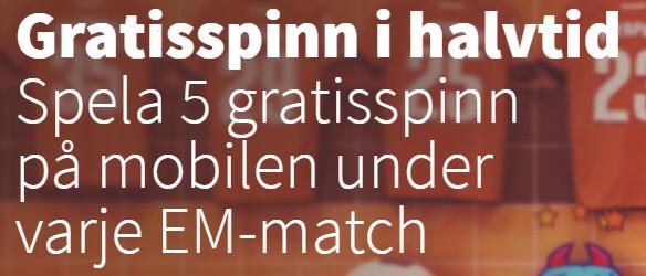 betsson fotboll EM 2016 free spins