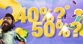 yako casino 50 procent bonus