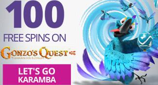 karamba 100 freespins gonzo's quest