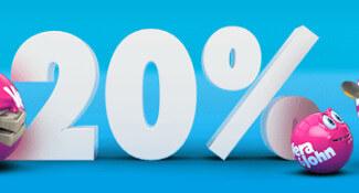 vera john 20 procent cashback