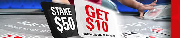 pokerstars live dealer bonus