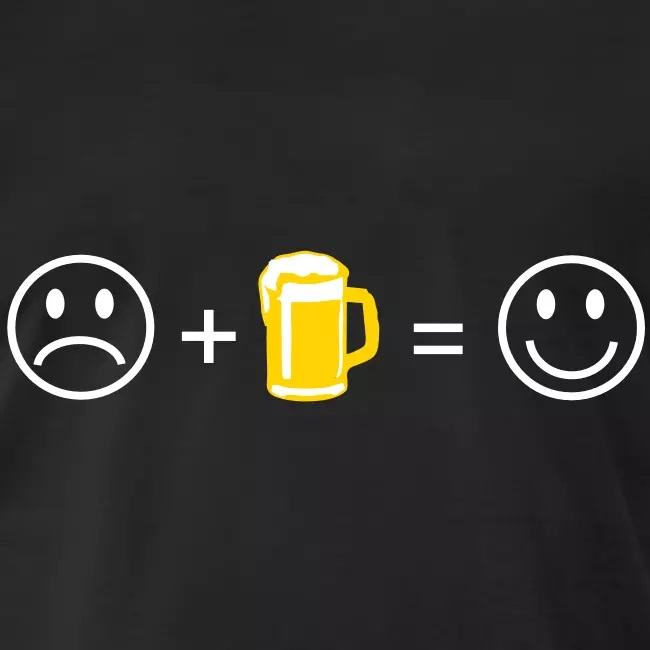 M.O sad-smiley-face-with-a-plus-sign-then-a-frothy-pint-of-beer-then-an-equals-sign-then-a-happy-smiley-face
