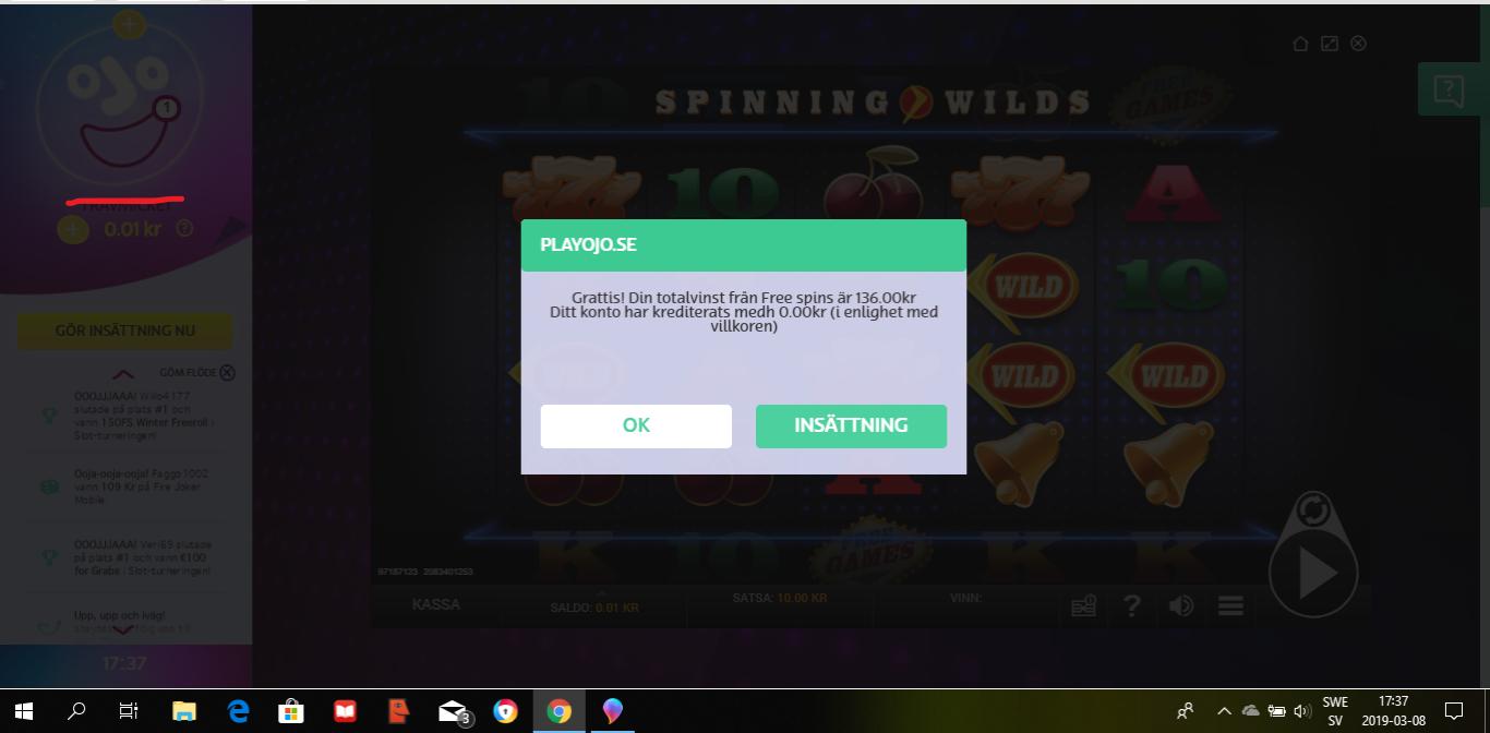 Casinotomten 5 utbet