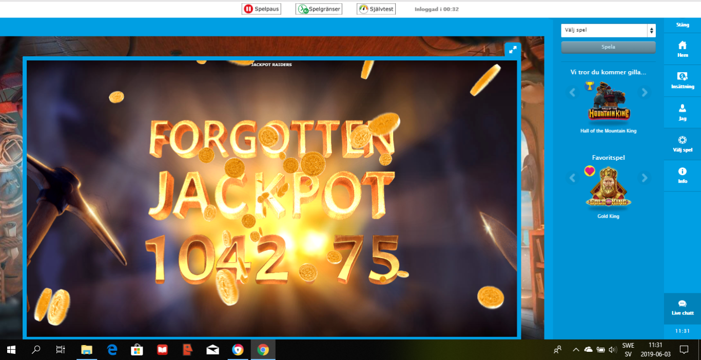 Casinotomten 5 jackpot