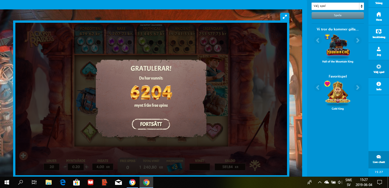 Casinotomten 5 jackpot2