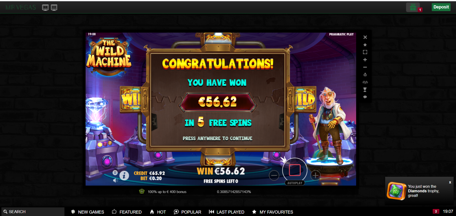 Casinotomten9 Wildmachine