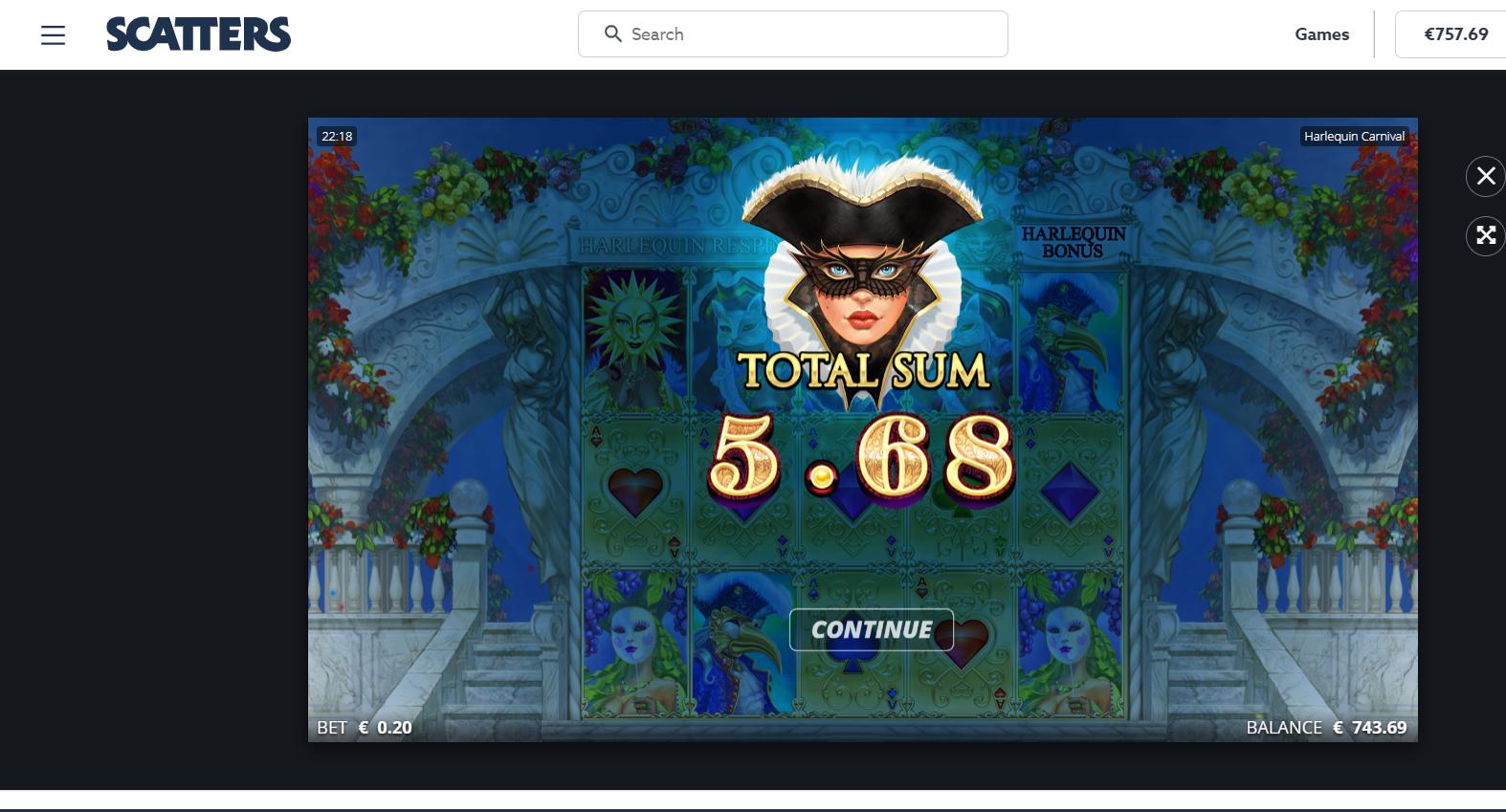 Casinotomten9 Harlequin
