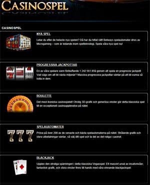 Betway casinospel