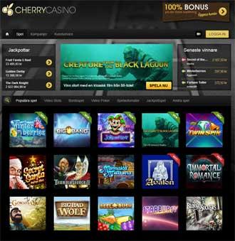 Cherry Casino spelutbud