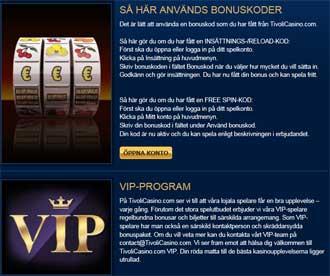 Tivoli Casino bonuskod VIP