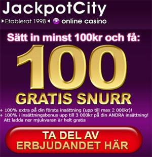 Jackpot City freespins