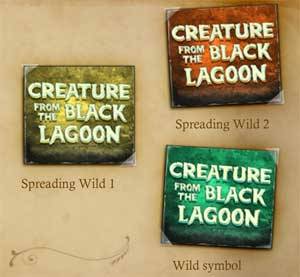Creature from the Black Lagoon wild symbol