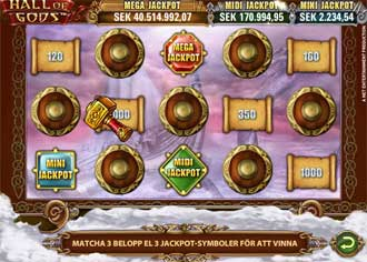 Hall of Gods jackpottspel